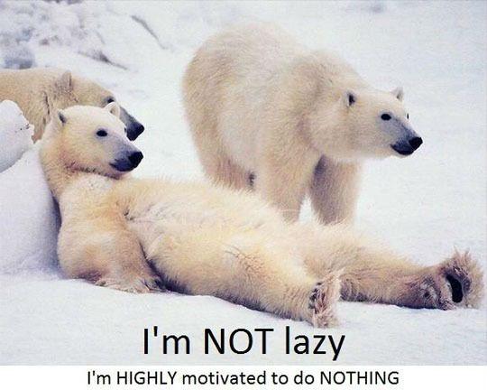 I Am Not Lazy I'm Highly Motivated To Do Nothing Funny Lazy Memes