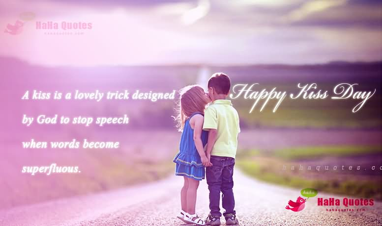 I Love Happy Kiss Day Wishes Quotes Wallpaper