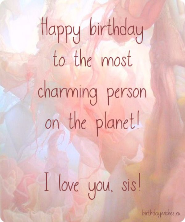 I Love You Sis Happy Birthday Message Image