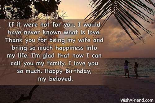 I love You So Much Happy Birthday Lovely Wife Greetings Quotes Image