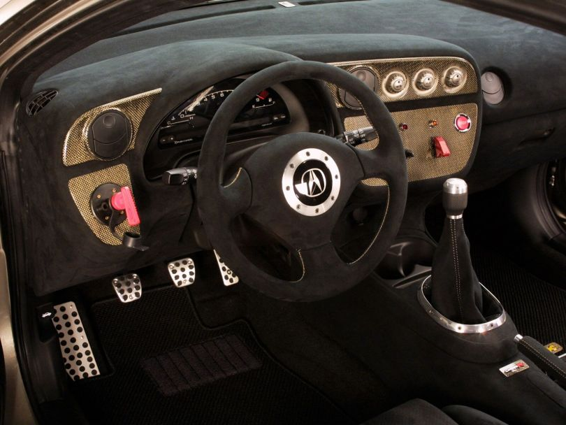 Inner side steering view of Acura RSX Car