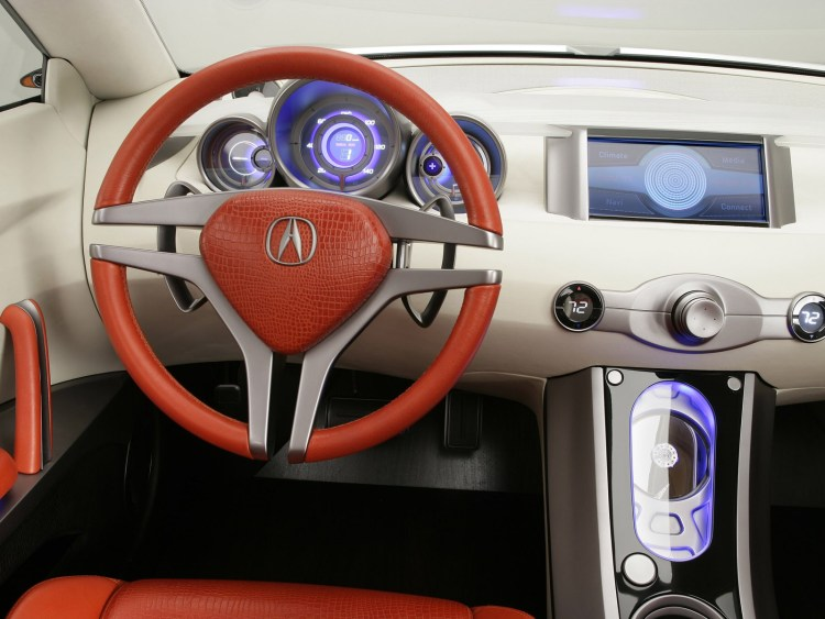 Inner side stirring view of wonderful silver Acura RDX Concept Car