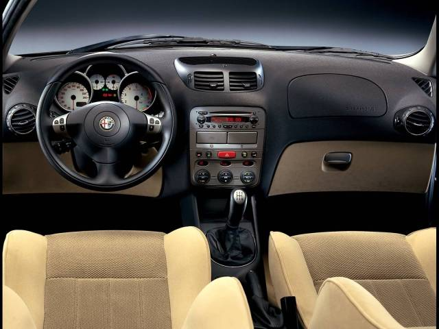 Inside view of beautifully Alfa Romeo 147 Car