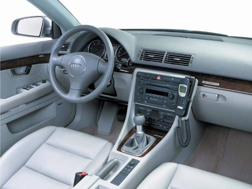 Interior view of beautiful Audi A4 Avant Car