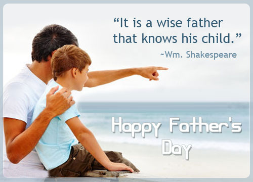 It's Is A Wise Father That Know His Child Happy Father's Day Picture