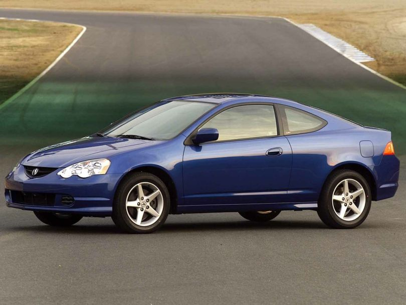 Left side view of blue wonderful Acura RSX Car