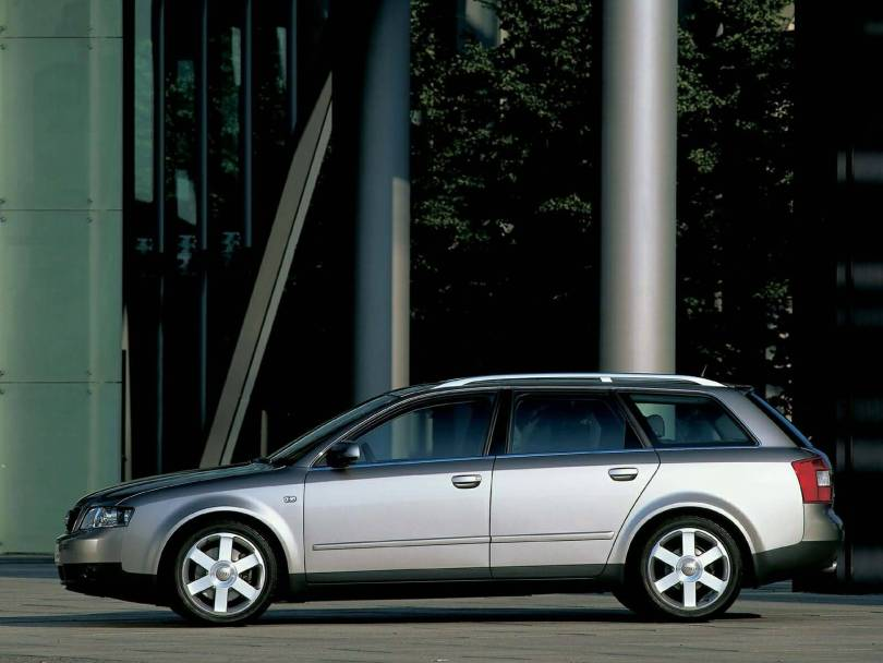 Left side view of wonderful silver Audi A4 Avant Car