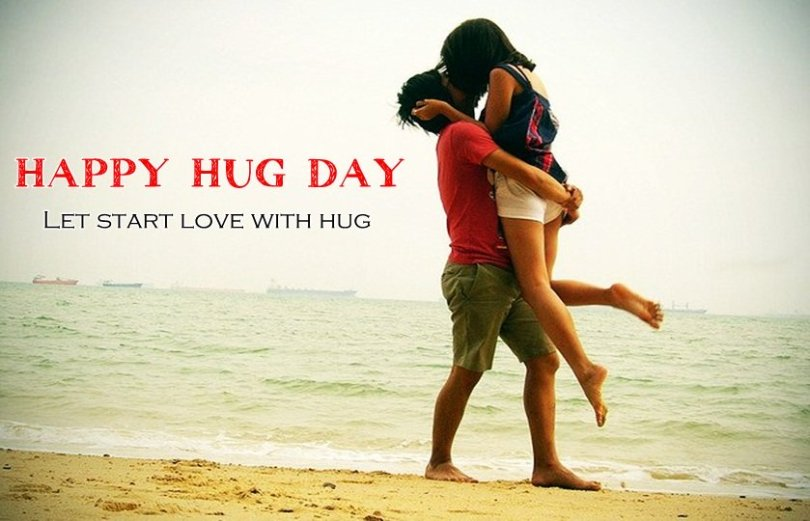 Let Start Love With Hug Happy Hug day