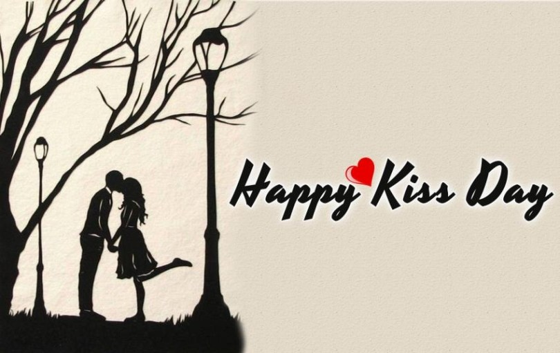 Love You Forever Happy Kiss Day Wishes Image