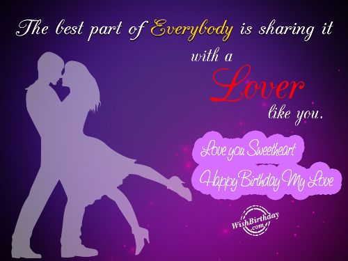 Love You Sweetheart happy Birthday My Love Wishes Message Image