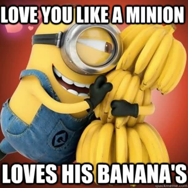 Love you like a minion loves his banana's I Love You Memes Photos