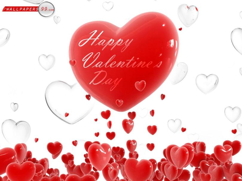 Lovely Happy Valentine Day Greetings Wallpaper