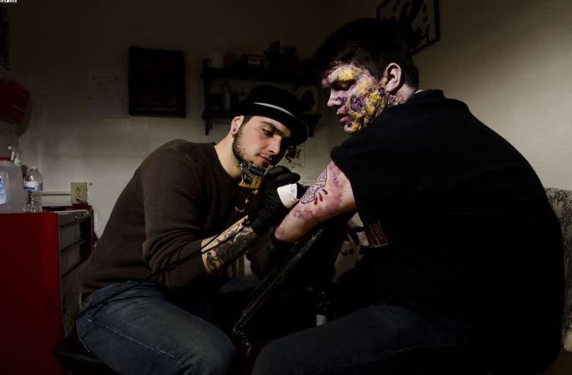 Making Zombie Tattoo Full HD