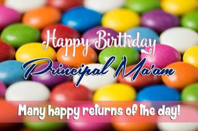 Many Happy Returns Of The Day Happy Birthday Principal Ma'am Greeting Image
