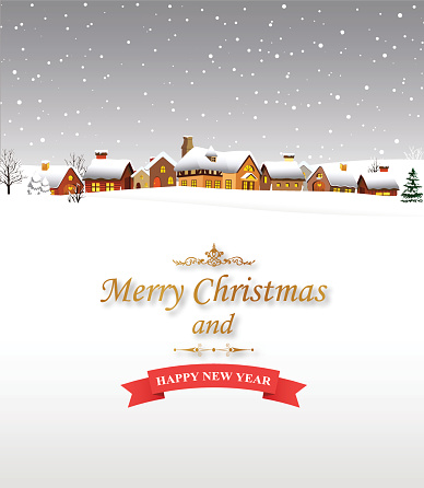 Merry Christmas And Happy New Year Wishes Image