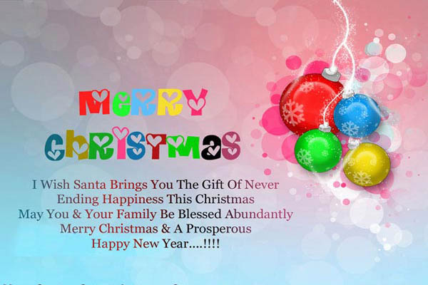 Merry Christmas Poem Picture & Happy New Year