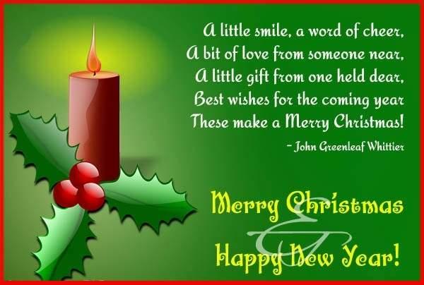 Merry Christmas Poems Dear Friends