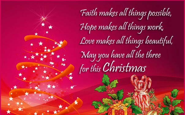 Merry Christmas Wishes Message Card