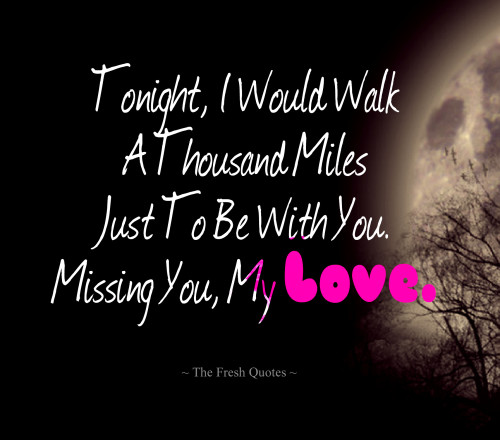 Missing You My Love Good Night Quotes Image