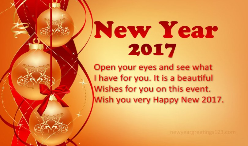New Year 2017 Beautiful Wishes For You Image
