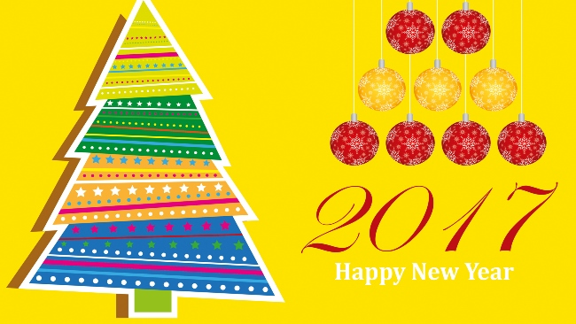 New Year 2017 Greeting Image