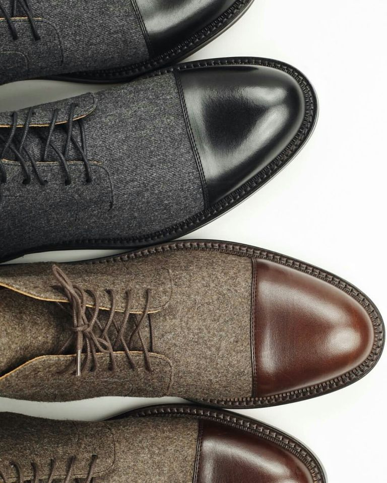 Nice Black And Brown Leather Shoe For Men