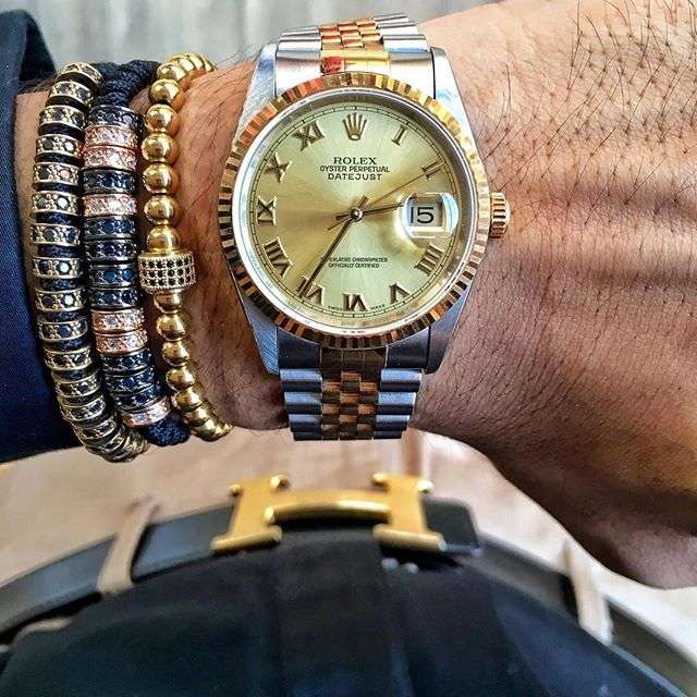 Nice Jewelry Bracelet And Gold Platinum Rolex Watch