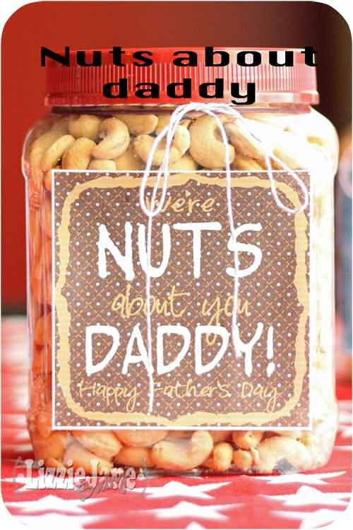 Nuts About Daddy Happy Father's Day Image