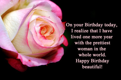 On Your Birthday Today Happy Birthday Beautiful Wife Wishes Quotes