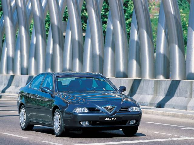 On the road beautiful Alfa Romeo 166 Car