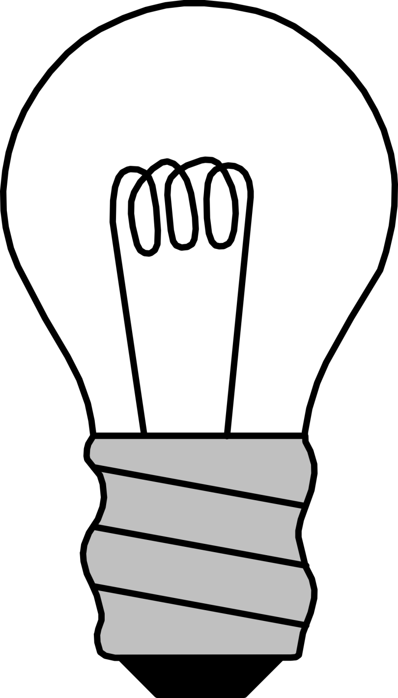 Passionate Black White Line Color Art Bulb Tattoo For Boys