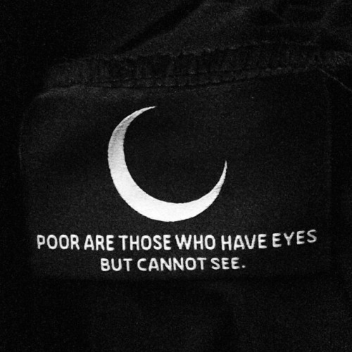 Poor are those who have eyes but cannot see