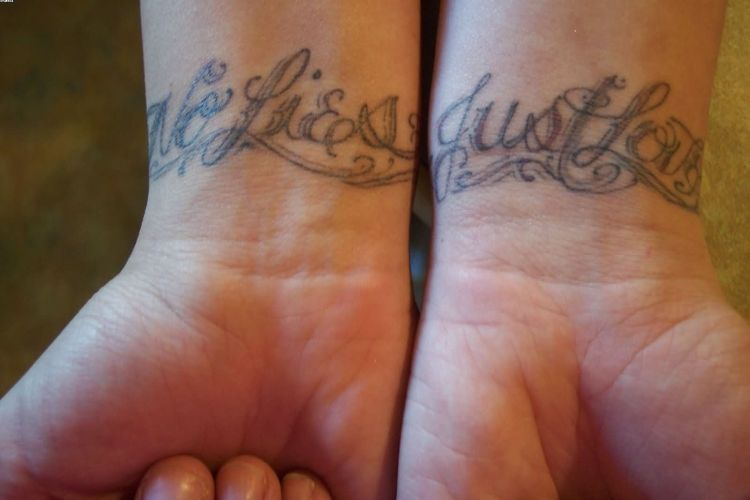Quotes No Lies Just Love Tattoos On Wrist With Ink