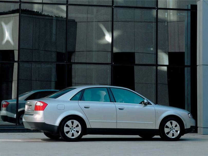 Right side view of wonderful silver Audi A4 Car