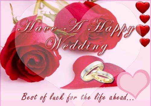 Romantic Wedding Greeting Image