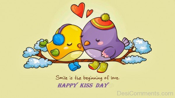 Smile Is The Beginning Of Love Happy Kiss day