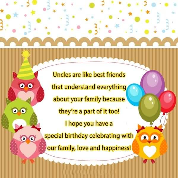 Special Uncle Birthday Wishes Message Image