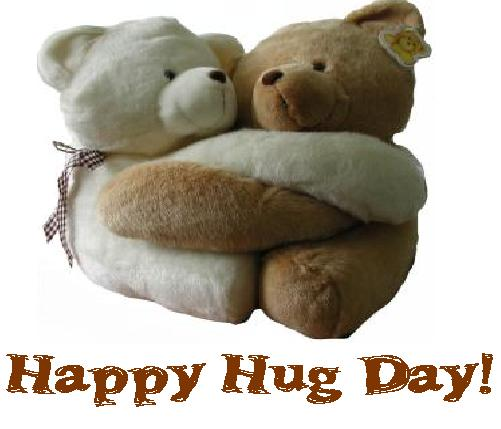 Teddy Hugging Happy Hug Day