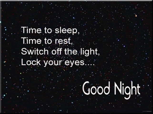Time To Sleep Good Night Wishes Message Image
