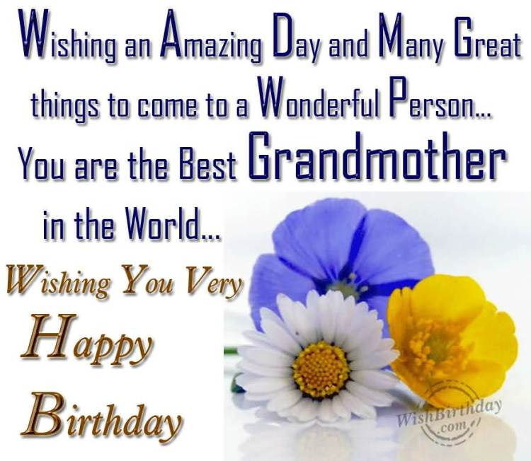 To A Wonderful You Grandmother Happy Birthday Quotes
