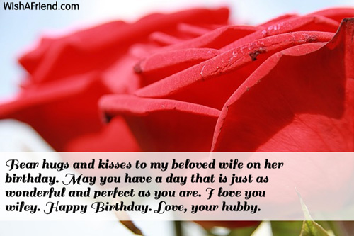 To My Beloved Wife On Her Birthday Happy Birthday Love Your Birthday Quotes Image