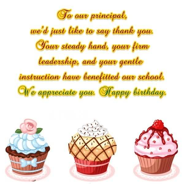 To Our Principal Sir Happy Birthday Greeting Image