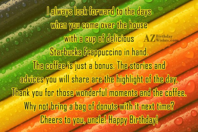 To The Days Cheers To You Uncle Happy Birthday Greetings Message