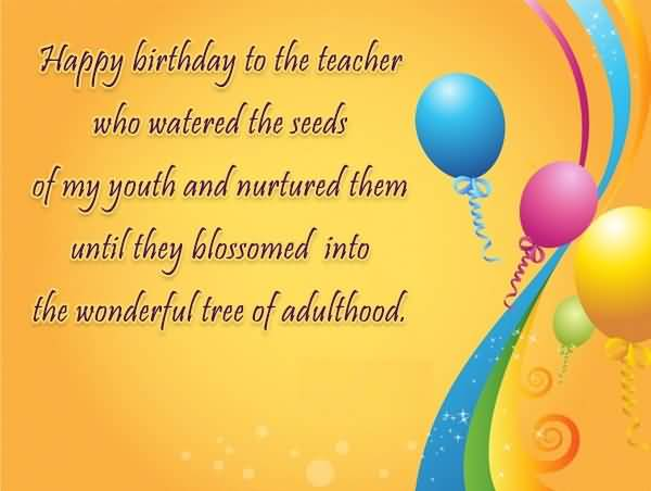 To The Wonderful Principal Happy Birthday Sir Greeting Image
