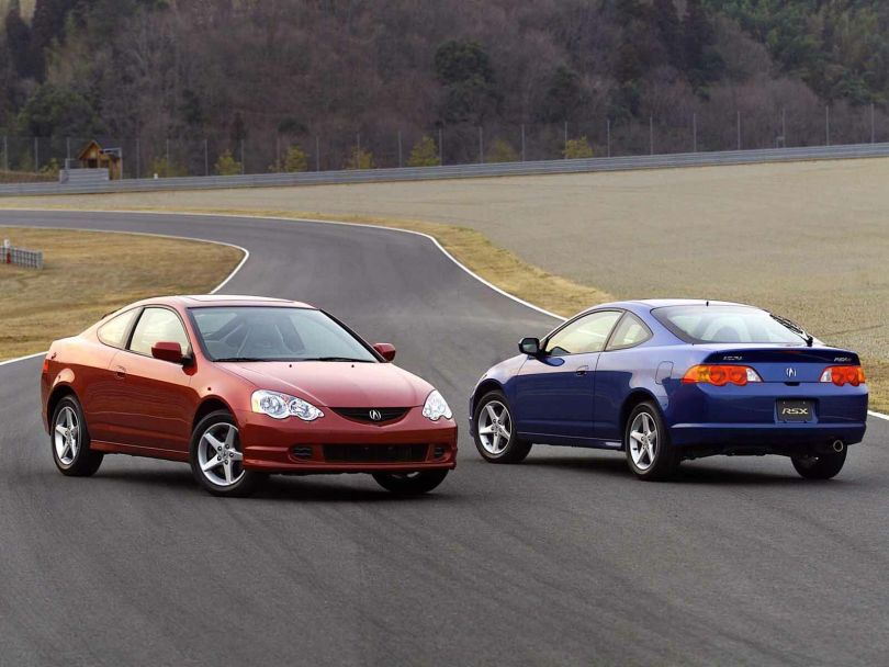 Two beautiful Acura RSX Car on the road