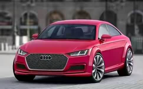 Very beautiful red colour Audi car