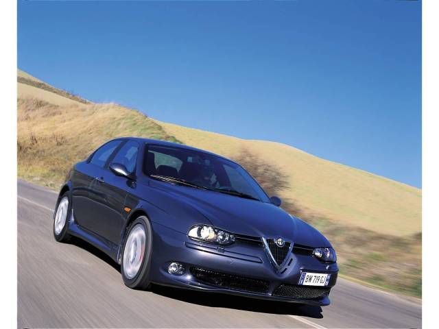 Very fast beautiful Alfa Romeo 156 GTA Car on the road