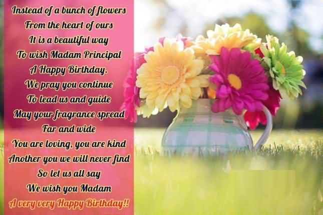 We Wish You Madam A Very Very Happy Birthday Greeting Quotes Image