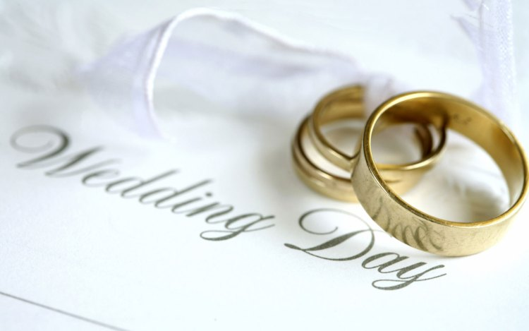 Wedding Day Wishes Rings Image