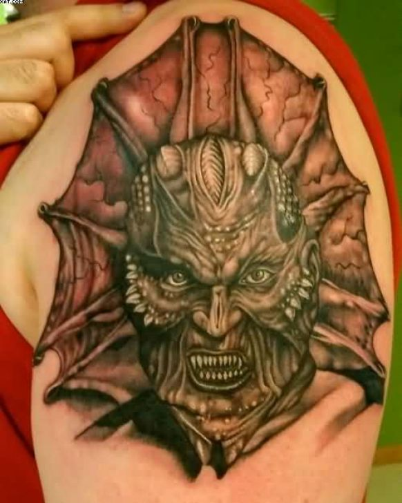 Weird Jeepers Creepers Zombie Tattoo